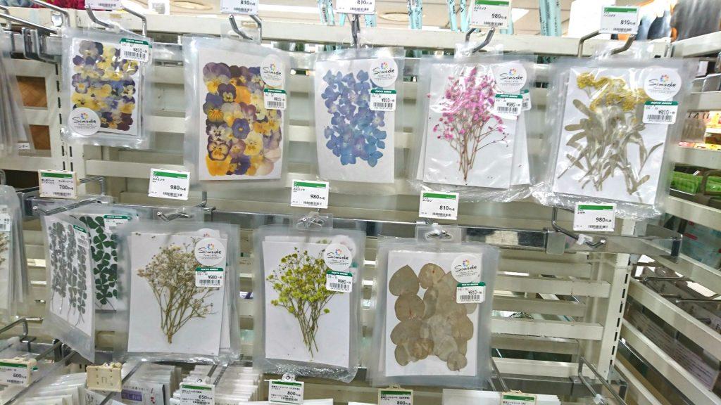 押し花はしもで。楽天市場、アマゾン、東急ハンズでも好評発売中
